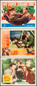 """Movie Posters:War, Sands of Iwo Jima & Others Lot (Republic, 1950). Lobby Cards(3) (11"""" X 14""""). War.. ... (Total: 3 Items)"""