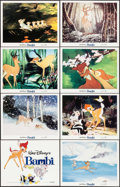 "Movie Posters:Animation, Bambi (Buena Vista, R-1982). Lobby Card Set of 8 (11"" X 14"").Animation.. ... (Total: 8 Items)"