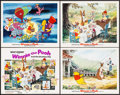 "Movie Posters:Animation, Winnie the Pooh and the Blustery Day (Buena Vista, 1969). Title Lobby Card & Lobby Cards (3) (11"" X 14""). Animation.. ... (Total: 4 Items)"