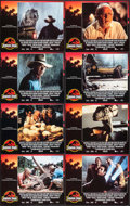 "Movie Posters:Science Fiction, Jurassic Park (Universal, 1993). International Lobby Card Set of 8(11"" X 14"") Chip Kidd and Sandy Collora Artwork. Science ...(Total: 8 Items)"