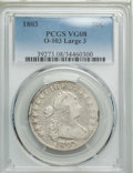 Early Half Dollars, 1803 50C Large 3, Large Reverse Stars, O-103, T-3, R.3, VG8 PCGS.PCGS Population: (2/31). NGC Census: (0/67). VG8 . . ...