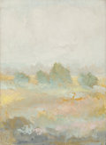 Fine Art - Painting, American, Jane Wilson (American, 1924-2015). Dawn at Hayground. Oil oncanvas. 38 x 28 inches (96.5 x 71.1 cm). Signed lower right...