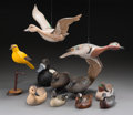 General Americana, Eleven Various American Duck and Goose Decoys, late 20th century.Marks: (various). 12-1/4 inches high (31.1 cm) (tallest, s...(Total: 11 Items)