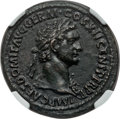 Ancients:Roman Imperial, Ancients: Domitian (AD 81-96). AE as (11.81 gm). NGC AU 5/5 - 2/5, smoothing. ...
