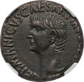 Ancients:Roman Imperial, Ancients: Germanicus, father of Caligula (died AD 19). AE as (9.41gm). NGC AU 4/5 - 4/5, lamination....