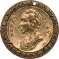 Political:Tokens & Medals, Henry Clay: Unusual Shell Locket or Medalet....