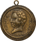 Political:Tokens & Medals, Lewis Cass: Highly Desirable Brass Shell Locket or Medalet....