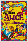 Memorabilia:Poster, Alice in Wonderland and The Aristocats One SheetsMovie Poster Group (Walt Disney, 1971-74).... (Total: 2 Items)
