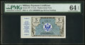 Military Payment Certificates, Series 472 5¢ Replacement PMG Choice Uncirculated 64 EPQ.. ...