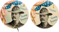 Political:Pinback Buttons (1896-present), Theodore Roosevelt: Pair of 1898 Rough Rider Gubernatorial Picture Pins....