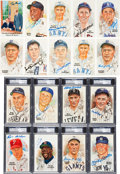 Baseball Collectibles:Others, 1980's-90's Perez-Steele Signed Hall of Fame Postcards Lot of 91. . ...