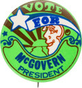 Political:Pinback Buttons (1896-present), George McGovern: Classic Peter Max Button. ...