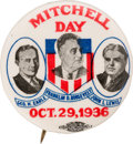 """Political:Pinback Buttons (1896-present), Franklin D. Roosevelt: """"Mitchell Day"""" Labor-Related Trigate...."""
