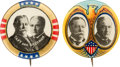 "Political:Pinback Buttons (1896-present), Taft & Sherman: Pair of Colorful 7/8"" Jugates.... (Total: 2 Items)"