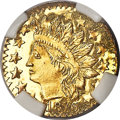 California Fractional Gold , 1876 25C Indian Round 25 Cents, BG-879, R.4, MS67 Prooflike NGC....