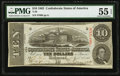 Confederate Notes:1863 Issues, T59 $10 1863 PF-25 Cr. 442B.. ...