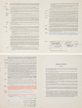 Baseball Collectibles:Others, 1945-51 Ralph Branca & Carl Erskine Signed Brooklyn DodgersUniform Player's Contracts - Lot of 2. . ...