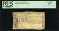 Colonial Notes, Maryland April 10, 1774 $8 PCGS Extremely Fine 45.. ...