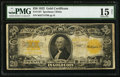 Large Size:Gold Certificates, Fr. 1187 $20 1922 Gold Certificate PMG Choice Fine 15....