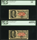 Fractional Currency:Fifth Issue, Fr. 1381 50¢ Fifth Issue PCGS Very Fine 30 and PCGS Extremely Fine 40PPQ. Two Examples.. ... (Total: 2 notes)