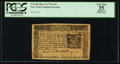 Colonial Notes, New York March 5, 1776 $1/6 PCGS Apparent Very Fine 35.. ...