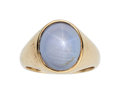 Estate Jewelry:Rings, Gentleman's Star Sapphire, Gold Ring The ring ...
