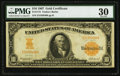 Large Size:Gold Certificates, Fr. 1172 $10 1907 Gold Certificate PMG Very Fine 30.