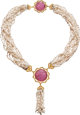 Tourmaline, Freshwater Cultured Pearl, Gold Necklace, Buccellati ... (1)