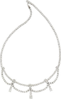 Diamond, Platinum Convertible Necklace