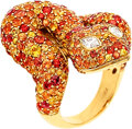 Estate Jewelry:Rings, Diamond, Sapphire, Gold Ring The snake ring fe...