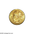 Indian Eagles: , 1926 $10 MS65 PCGS. Highly lustrous beneath swirling golden-orangepatina. The obverse is refreshingly mark-free while a fe...