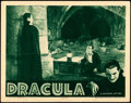 "Movie Posters:Horror, Dracula (Universal, R-1939). Lobby Card (11"" X 14"").. ..."
