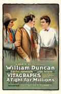 Movie Posters:Serial, A Fight for Millions (Vitagraph, 1918). One Sheet ...