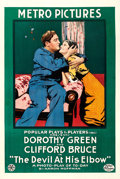 """Movie Posters:Drama, The Devil at His Elbow (Metro, 1916). One Sheet (28"""" X 42"""").. ..."""