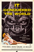 "Movie Posters:Science Fiction, It Conquered the World (American International, 1956). One Sheet (27"" X 41"") Albert Kallis Artwork.. ..."