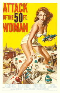 """Attack of the 50 Foot Woman (Allied Artists, 1958). One Sheet (27"""" X 41"""") Reynold Brown Artwork"""