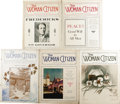 Political:Small Paper (1896-present), The Woman Citizen: (46 Issues) containing some cartoon covers. The Woman Citizen was an outgrowth of Lucy Stone'...