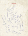 Autographs:Others, 1959 Hall of Famers Multi-Signed Banquet Program. The night beforebaseball's best faced off at Forbes Field in the twenty-...