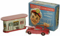 Antiques:Toys, Marx Electric Filling Station with Self Charging Automobile. in Original Box.. Tin litho and plastic, made in West G...