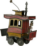 """Antiques:Toys, Fontaine Fox Toonerville Trolley Wind-up Toy.. Tin litho,5.25"""" long x 7"""" tall, copyright 1922, German patent, Fonta..."""