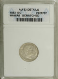 Coins of Hawaii: , 1883 10C Hawaii Ten Cents--Scratched--ANACS. AU53 Details. NGCCensus: (10/143). PCGS Population (28/174). Mintage: 250,000...