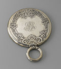 Paintings, AN AMERICAN STERLING SILVER HAND MIRROR. Gorham, Providence, Rhode Island, Early Twentieth Century. Bearing a framed flower ...