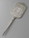 Other:American, AN AMERICAN SILVER HAND MIRROR. International Sterling Co.,Meriden, CT, Early Twentieth Century. Script monogram to the r...