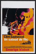 "Movie Posters:Action, Dirty Harry (Warner Brothers, 1971). Belgian (14"" X 22""). ClintEastwood, as Detective Harry Callahan of the SFPD, takes on ..."