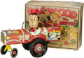 """Antiques:Toys, Marx """"Dagwood the Driver"""" Wind-up Toy in Original Box.. Virtually new in original box, tin litho, 8"""" long x 6"""" tall,..."""