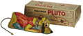 """Antiques:Toys, Marx Roll-over Pluto Wind-up Toy in Original Box.. Tinlitho, 8.25"""" long x 3"""" tall, Marx maker's mark present, Walt ..."""