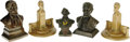 Political:3D & Other Display (1896-present), Group of Small Abraham Lincoln Busts and Bookends consisting of five items (left to right in photo): a bust by the Aston Cas... (Total: 5 )