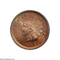 Indian Cents: , 1882 1C MS67 Red PCGS. Simply extraordinary quality for a business strike Indian Cent, both sides are alive with vigorous o...