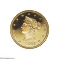 Proof Liberty Eagles: , 1863 $10 PR64 Cameo NGC. A regal coin which is graced by strong contrast between the mirror fields and devices. The color i...