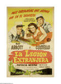 "Movie Posters:Comedy, Abbott and Costello in the Foreign Legion (Universal, 1950).Argentine Poster (29.5"" X 43.5""). Bud Abbott and Lou Costello s..."